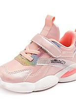 cheap -Girls' Trainers Athletic Shoes Comfort PU Little Kids(4-7ys) Big Kids(7years +) Daily Walking Shoes Pink Silver Spring Fall