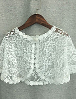 cheap -Short Sleeve Flower Style / Cute Lace Party / Evening / Birthday Shawl & Wrap / Kids' Wraps With Lace / Floral / Crystals / Rhinestones