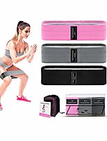 cheap -Resistance Bands, 3-Pack Professional Exercise Bands, Workout Bands, Exercise Assisters for Men, Women, Yoga, Pilates, Muscle Training (Pink + Black + Grey)