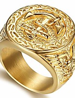 cheap -vintage gold plated stainless steel sailor anchor rope ring,size 12