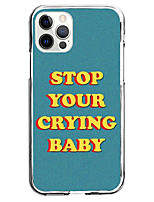 cheap -stop crying phrase instagram style cas for apple iphone 12 iphone 11 iphone 12 pro max unique design protective case shockproof back cover tpu fashion case