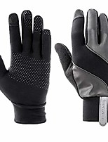 cheap -Men's Women's Winter Gloves Running Gloves Ski Gloves Anti-Slip Touch Screen Thermal Warm Waterproof Autumn / Fall Winter NEOPRENE Fleece Camping / Hiking Hunting Ski / Snowboard Fishing Black Grey