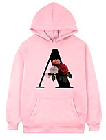 cheap -Inspired by Gothic BlackLetter Cosplay Costume Hoodie Polyster Flower Printing Hoodie For Men's / Women's