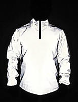 cheap -Men's Reflective Jacket Hiking Windbreaker Outdoor Lightweight Windproof Breathable Quick Dry Jacket Top Fishing Climbing Camping / Hiking / Caving Gray