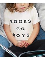 cheap -Kids Daddy'slittlegirl Boys' Active Basic Letter Print Short Sleeve Tee White