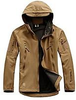cheap -Men's Hiking Fleece Jacket Winter Outdoor Waterproof Lightweight Windproof Breathable Jacket Top Fleece Fishing Climbing Camping / Hiking / Caving Python pattern black Ruin green Deep mud khaki Gray