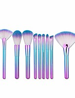 cheap -Makeup Brushes Gradient Makeup Brush Set Tools Make-up Toiletry Kit Nylon Cosmetic Brush Eye Brush 9pcs (Color : Blue)