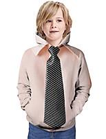 cheap -Kids Boys' Hoodie & Sweatshirt Graphic 3D Print Long Sleeve Active Dusty Rose
