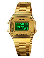cheap -SKMEI Men's Sport Watch Digital Sporty Classic Calendar / date / day Digital Rose Gold Black+Gloden Black / One Year / Stainless Steel