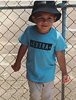 cheap -Kids Boys' T shirt Tee Letter Print Short Sleeve Active Basic Blue