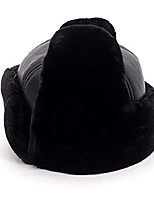 cheap -Autumn And Winter Hat Black Warm Hat Thickened Middle-aged And Elderly Ear Protection Hat Thick Ear Leather Trend Comfortable Hat,M
