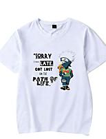 cheap -Inspired by Naruto Hatake Kakashi Naruto Uzumaki Cosplay Costume T-shirt Microfiber Graphic Prints Printing T-shirt For Men's / Women's