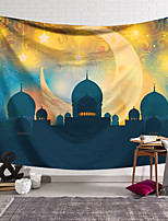 cheap -Eid Mubarak Islamic Muslim Ramadan Wall Tapestry Art Decor Blanket Curtain Hanging Home Bedroom Living Room Decoration Polyester Castle Moon
