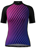cheap -21Grams Women's Short Sleeve Cycling Jersey Black Stripes Bike Top Mountain Bike MTB Road Bike Cycling Breathable Quick Dry Sports Clothing Apparel / Stretchy / Athleisure