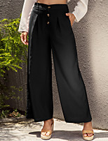 cheap -Women's Stylish Casual Weekend Culotte Pants Simple Full Length Black