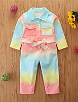 cheap -Kids Girls' Overall & Jumpsuit Print Bow Print Basic Blue