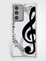 cheap -Curve Music Case For Samsung Galaxy S21 20 Plus S20 Ultra Note 20 10 S20 FE Design Protective Case Shockproof Back Cover TPU