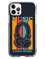 cheap -Multi Color Fashion Case For Apple iPhone 12 iPhone 11 iPhone 12 Pro Max Unique Design Protective Case Shockproof Back Cover TPU I Love Music