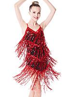 cheap -Latin Dance Dance Costumes Exotic Dancewear Hair Jewelry Glitter Tassel Ruffle Women's Girls' Training Performance Sleeveless Nylon POLY Chinlon