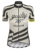 cheap -Women's Short Sleeve Cycling Jersey Grey Stripes Bike Top Mountain Bike MTB Road Bike Cycling Breathable Quick Dry Sports Clothing Apparel / Stretchy / Athleisure