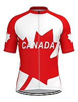 cheap -Men's Short Sleeve Cycling Jersey Red Bike Top Mountain Bike MTB Road Bike Cycling Breathable Sports Clothing Apparel / Stretchy / Athletic