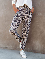 cheap -Women's Sporty Breathable Sports Daily Jogger Pants Pants Camouflage Full Length Drawstring Print Red Gray