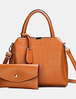 cheap -women 2pcs pu leather alligator pattern casual business multi-carry handbag shoulder bag crossbody bag