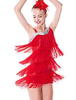 cheap -Latin Dance Ballet Leotard / Onesie Tassel Paillette Women's Training Performance Sleeveless Lycra