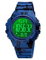 cheap -SKMEI Men's Digital Watch Digital Stylish Calendar / date / day Digital White Black Blue / One Year / Silicone