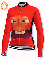 cheap -21Grams Women's Long Sleeve Cycling Jacket Winter Fleece Spandex Red 3D Bike Jacket Mountain Bike MTB Road Bike Cycling Fleece Lining Warm Sports Clothing Apparel / Stretchy / Athleisure
