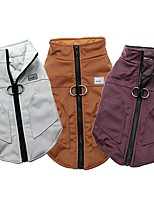 cheap -Dog Cat Jacket Puffer / Down Jacket Basic Winter Dog Clothes Puppy Clothes Dog Outfits White Fuchsia Brown Costume for Girl and Boy Dog Polyester S M L XL XXL 3XL