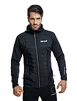 cheap -Men's Hoodie Jacket Hiking Fleece Jacket Winter Outdoor UV Sun Protection Quick Dry Lightweight Breathable Jacket Top Fishing Climbing Camping / Hiking / Caving Black