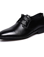 cheap -Men's Oxfords Business Casual Daily Office & Career Walking Shoes PU Breathable Non-slipping Wear Proof Black Spring Fall