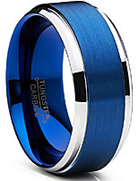 cheap -9mm men's brushed finish high polish beveled edge tungsten carbide wedding band ring, comfort fit sz 15