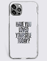 cheap -have you loved yourself today letter case for apple iphone 12 iphone 11 iphone 12 pro max unique design protective case shockproof back cover tpu