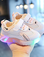cheap -Boys' Girls' Trainers Athletic Shoes Comfort LED Shoes PU Little Kids(4-7ys) Daily Walking Shoes LED Blue Pink Green Spring Fall