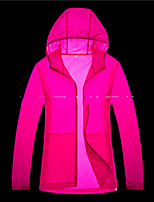 cheap -Men's Women's Hiking Skin Jacket Skin Coat Hiking Windbreaker Outdoor Solid Color Lightweight Windproof Breathable Quick Dry Jacket Top Fishing Climbing Beach Dark Grey White Fuchsia Blue Pink