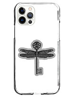 cheap -dragonfly key instagram style case for apple iphone 12 iphone 11 iphone 12 pro max unique design protective case shockproof back cover tpu