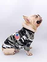 cheap -Dog Cat Shirt / T-Shirt Print Camouflage Flag Basic Classic Cool Casual / Daily Dog Clothes Puppy Clothes Dog Outfits Breathable Camouflage Color Costume for Girl and Boy Dog Cotton S M L XL XXL