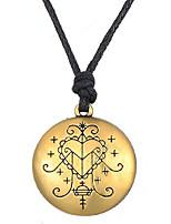 cheap -Vintage Amulet Ezili Freda Voodoo Veve Pendant Vodoun Lwa of Love Talisman Jewelry for Men Women