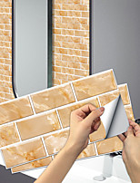 cheap -imitation retro ceramic tile kitchen sticker waterproof and oilproof sunlight yellow flake self-adhesive decorative wall sticker 15cm*30cm*6pcs