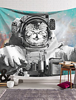 cheap -Wall Tapestry Art Decor Blanket Curtain Hanging Home Bedroom Living Room Decoration Polyester Spacesuit Cat Comic White