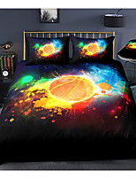 cheap -sports series basketball print 3-piece duvet cover set hotel bedding sets comforter cover with soft lightweight microfiber, include 1 duvet cover, 2 pillowcases for double/queen/king(1 pillowcase for