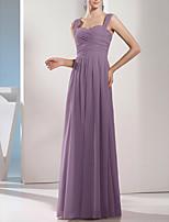 cheap -Sheath / Column Minimalist Elegant Wedding Guest Formal Evening Dress Sweetheart Neckline Sleeveless Floor Length Chiffon with Sleek Pleats 2021