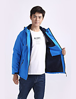 cheap -Men's Hiking Softshell Jacket Hiking Fleece Jacket Winter Outdoor Lightweight Windproof Breathable Quick Dry Jacket Top Fleece Fishing Climbing Camping / Hiking / Caving Light Blue Black Red Gray