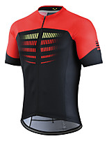cheap -21Grams Men's Short Sleeve Cycling Jersey Black Bike Top Mountain Bike MTB Road Bike Cycling Breathable Sports Clothing Apparel / Stretchy / Athletic