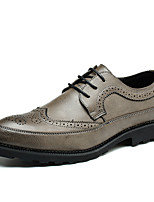 cheap -Men's Oxfords Business Daily Office & Career Walking Shoes PU Non-slipping Wear Proof Black Yellow Blue Spring Fall