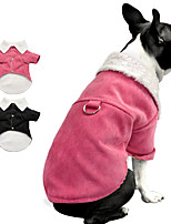 cheap -Dog Cat Coat Jacket Solid Colored Basic Classic Casual / Daily Winter Dog Clothes Puppy Clothes Dog Outfits Warm Black Red Costume for Girl and Boy Dog Cotton S M L XL XXL