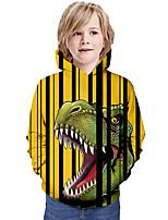 cheap -Kids Boys' Hoodie & Sweatshirt Graphic 3D Animal Print Long Sleeve Active Yellow