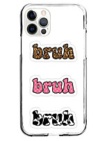 cheap -brush word fashion case for apple iphone 12 iphone 11 iphone 12 pro max unique design protective case shockproof back cover tpu brown pink black cow pattern
